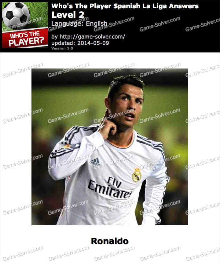 Who's The Player Spanish La Liga Level 2