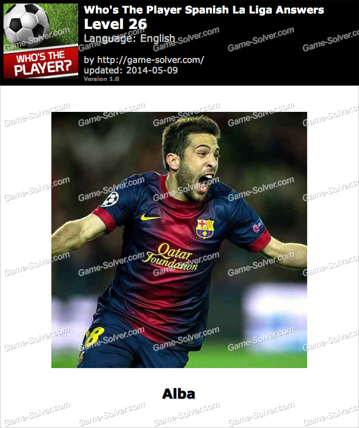 Who's The Player Spanish La Liga Level 26