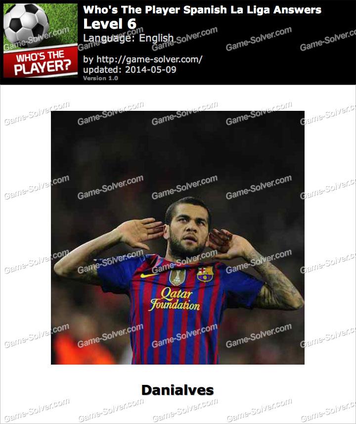 Who's The Player Spanish La Liga Level 6