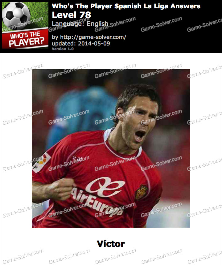 Who's The Player Spanish La Liga Level 78