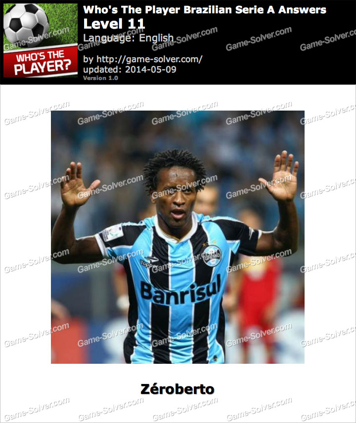Who's The Player Brazilian Serie A Level 11