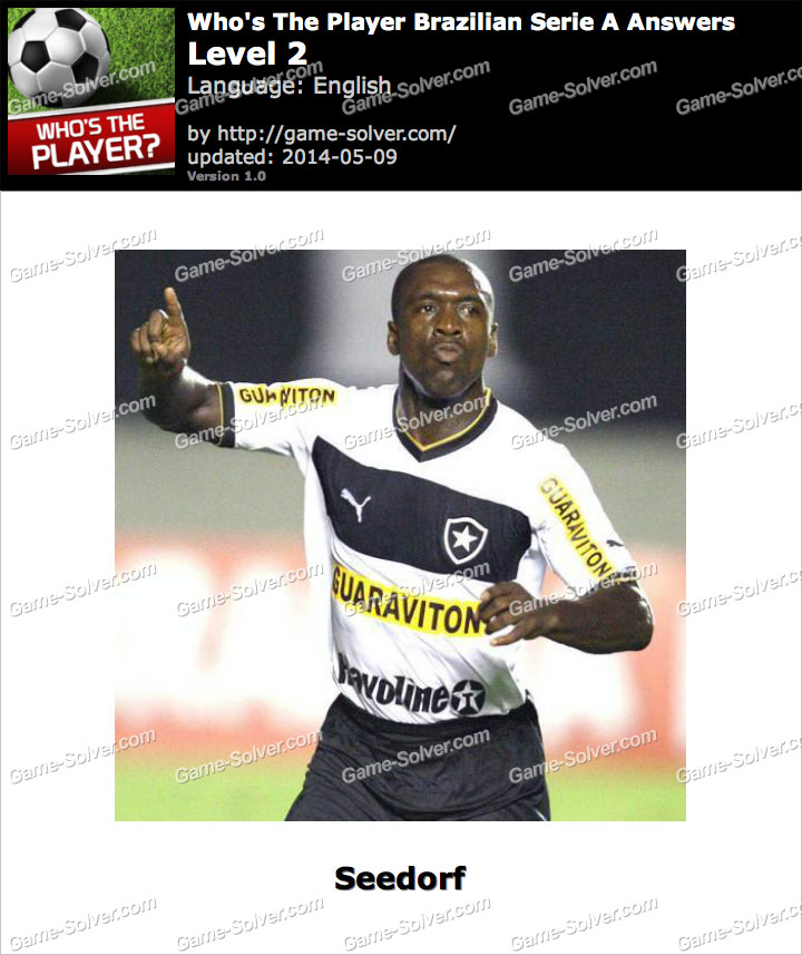 Who's The Player Brazilian Serie A Level 2