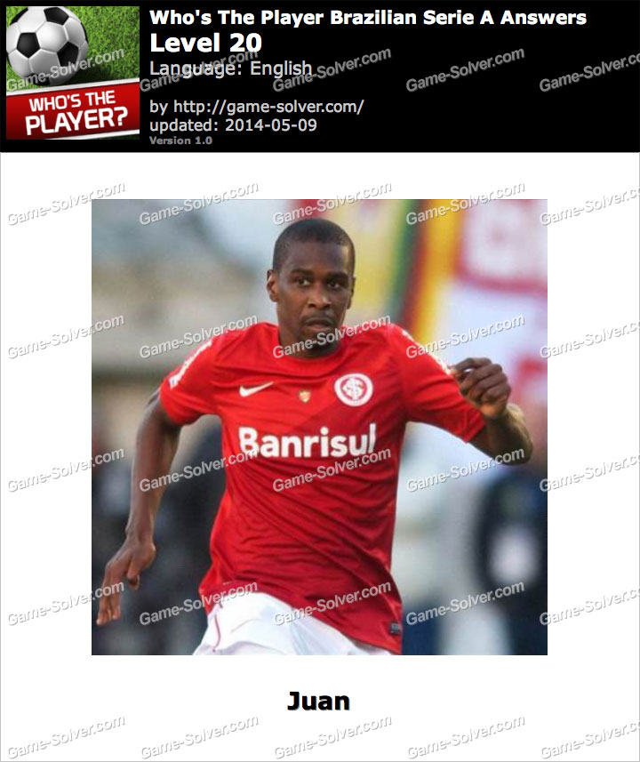 Who's The Player Brazilian Serie A Level 20