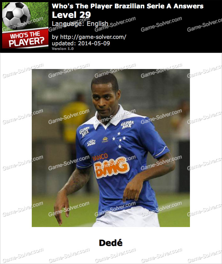 Who's The Player Brazilian Serie A Level 29
