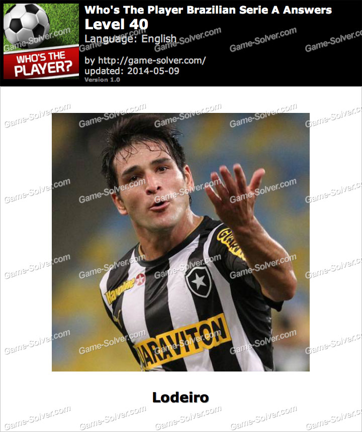 Who's The Player Brazilian Serie A Level 40
