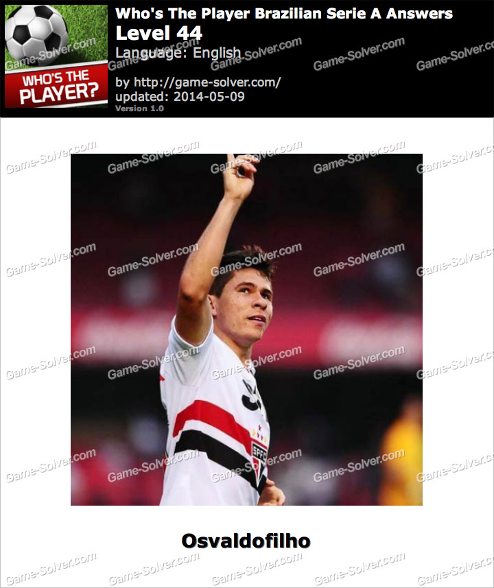Who's The Player Brazilian Serie A Level 44