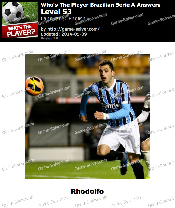 Who's The Player Brazilian Serie A Level 53