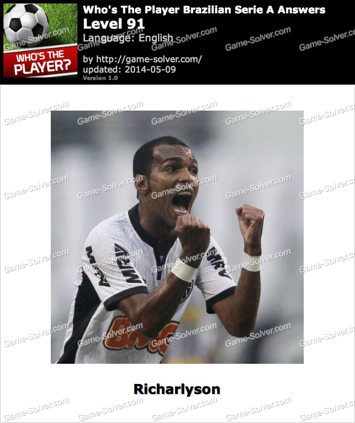 Who's The Player Brazilian Serie A Level 91