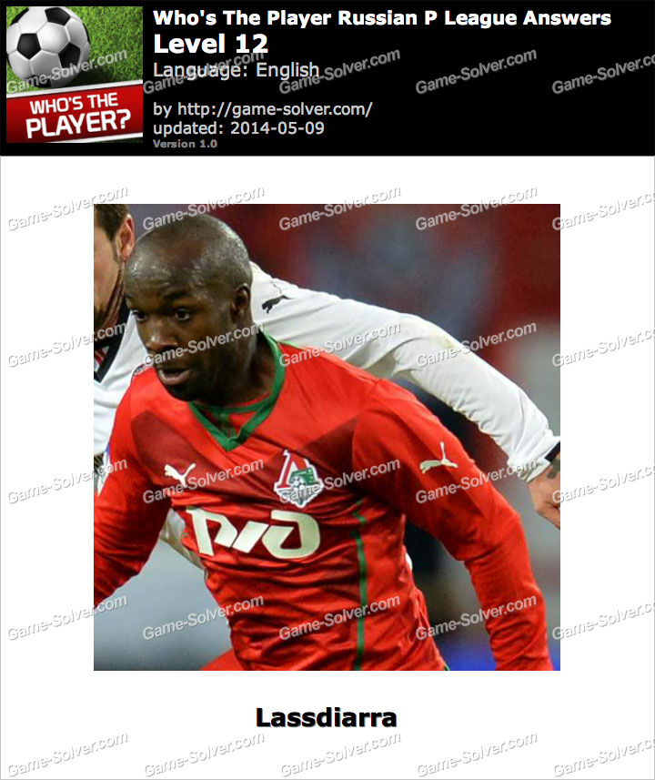 Who's The Player Russian P League Level 12