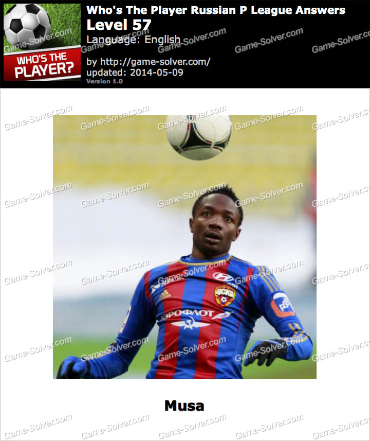Who's The Player Russian P League Level 57