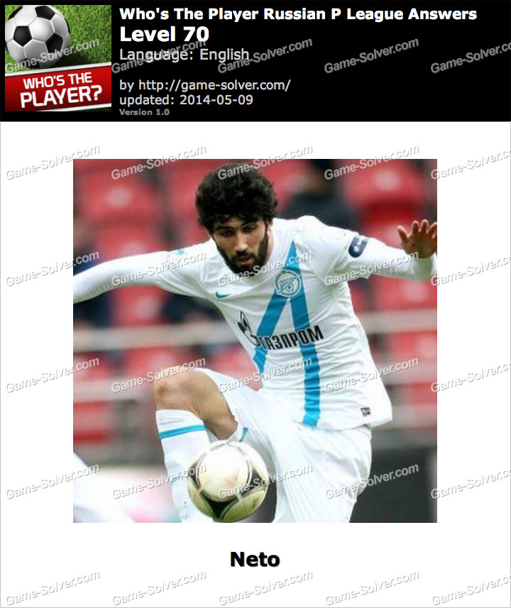 Who's The Player Russian P League Level 70