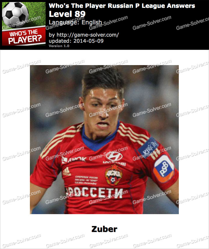 Who's The Player Russian P League Level 89