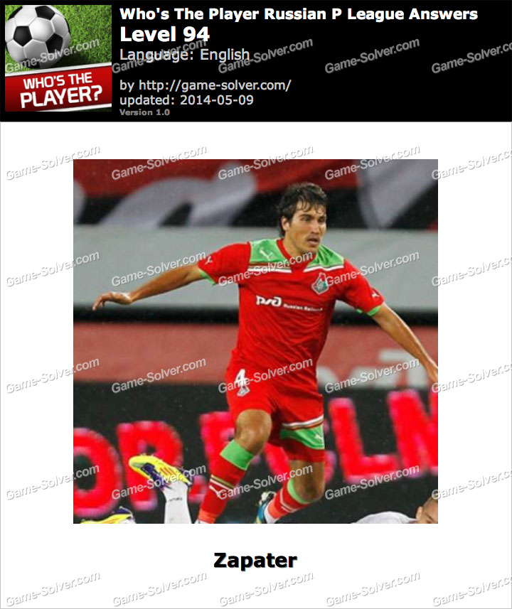 Who's The Player Russian P League Level 94