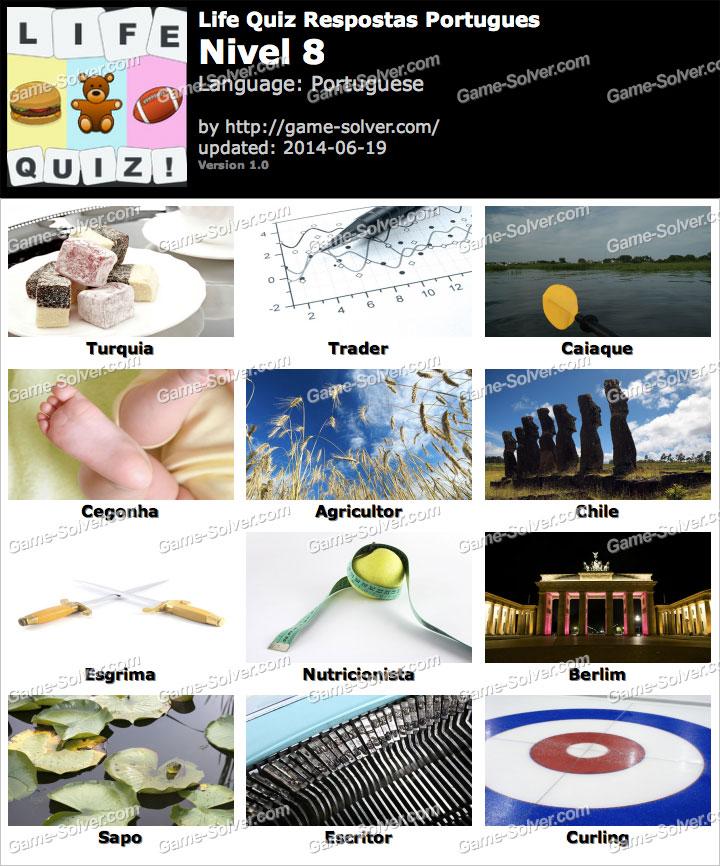 Life Quiz Portugues Nivel 8