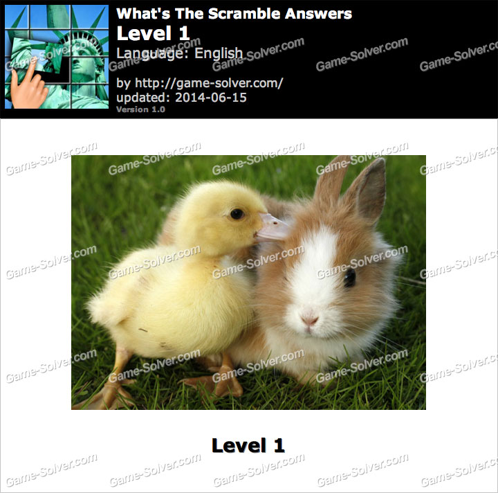 What's The Scramble Level 1