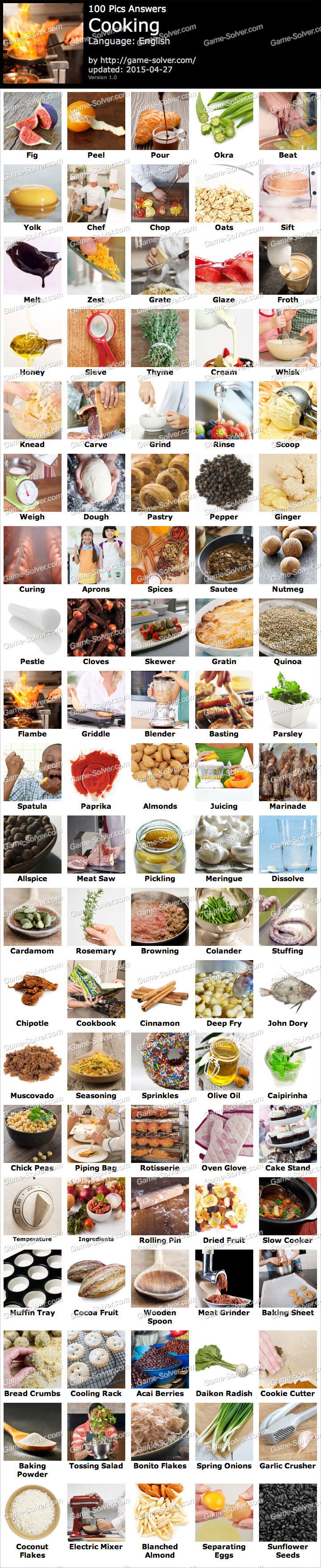 100 Pics Cooking