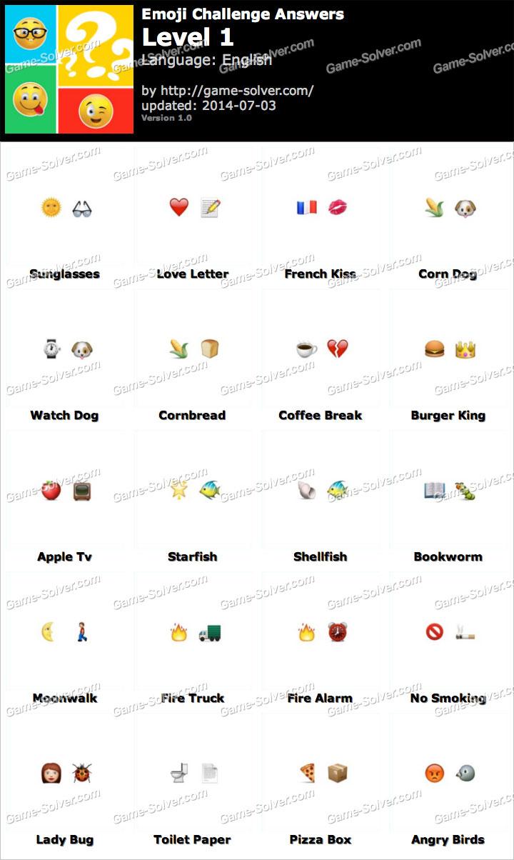 Emoji Challenge Level 1