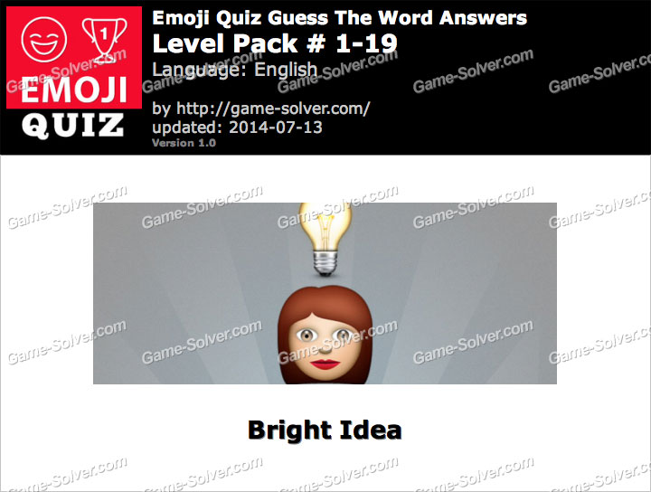 Emoji Quiz Guess the Word Level Pack 1-19