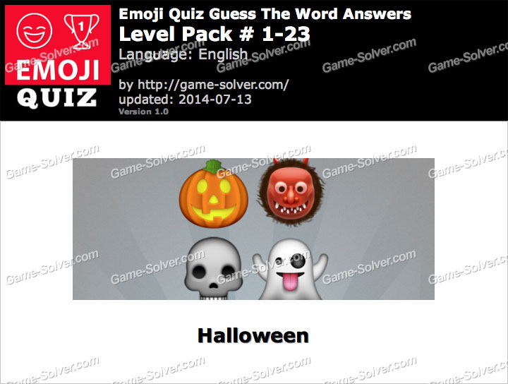 Emoji Quiz Guess the Word Level Pack 1-23