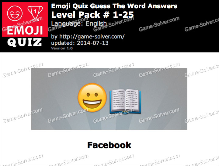 Emoji Quiz Guess the Word Level Pack 1-25