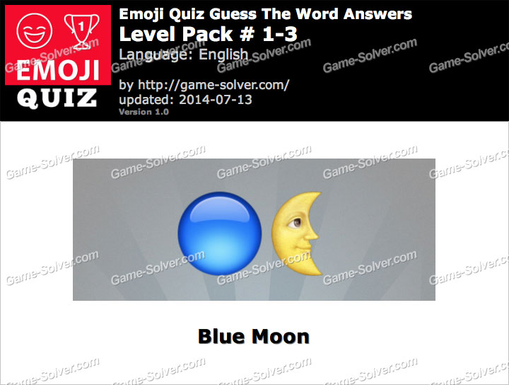 Emoji Quiz Guess the Word Level Pack 1-3
