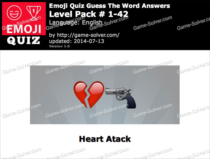 Emoji Quiz Guess the Word Level Pack 1-42