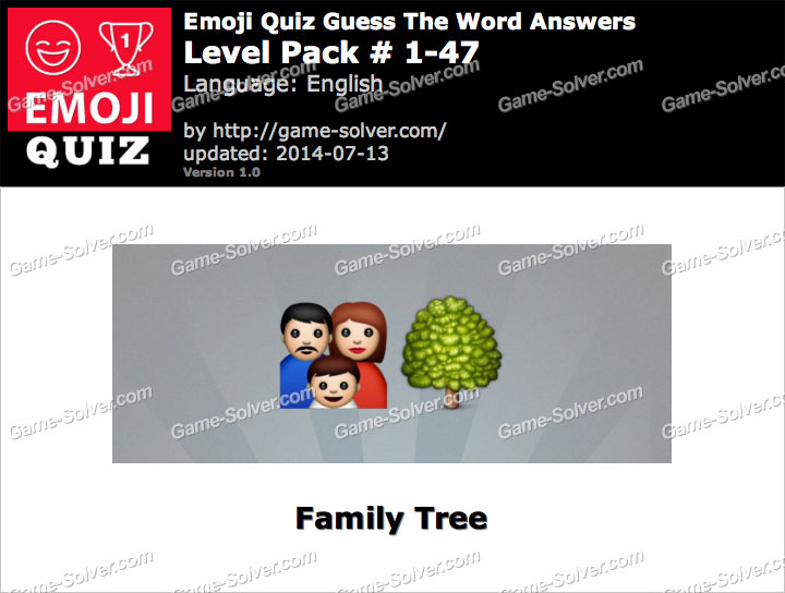 Emoji Quiz Guess the Word Level Pack 1-47