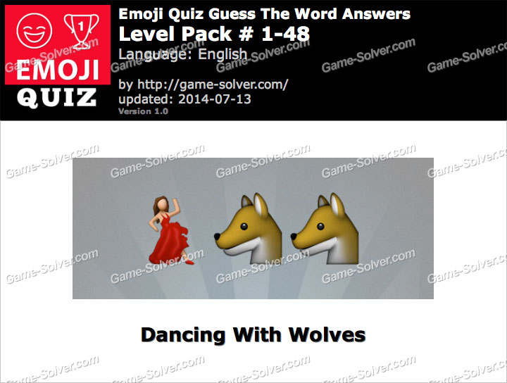 Emoji Quiz Guess the Word Level Pack 1-48
