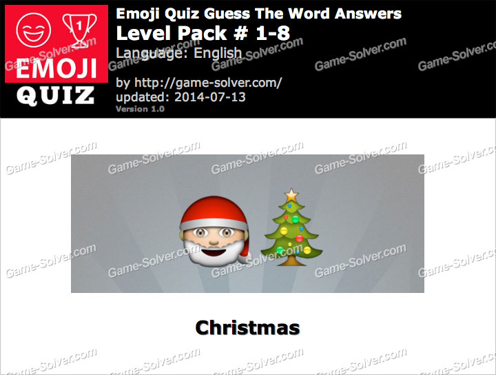 Emoji Quiz Guess the Word Level Pack 1-8