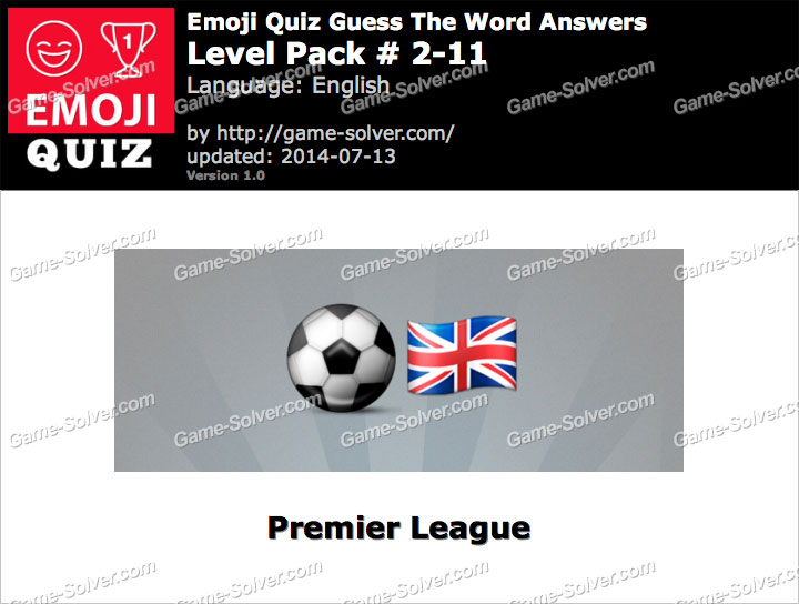 Emoji Quiz Guess the Word Level Pack 2-11