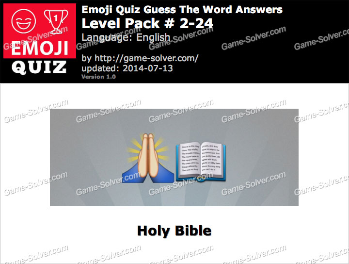 Emoji Quiz Guess the Word Level Pack 2-24