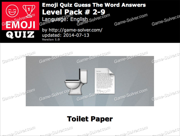 Emoji Quiz Guess the Word Level Pack 2-9