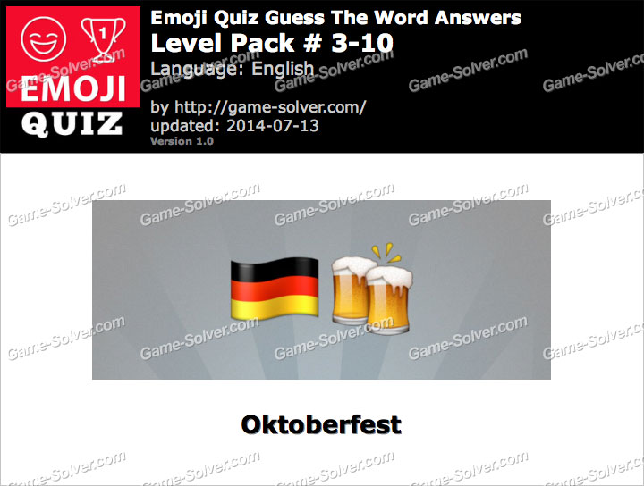 Emoji Quiz Guess the Word Level Pack 3-10