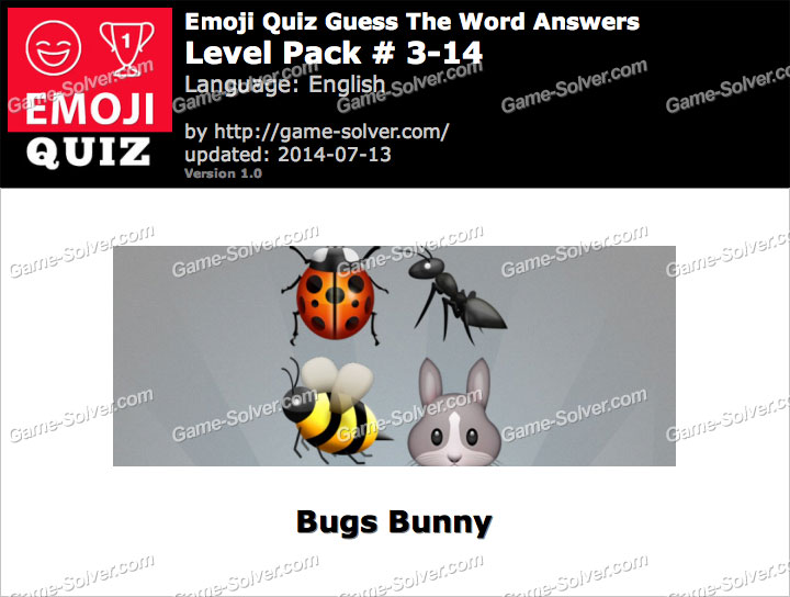Emoji Quiz Guess the Word Level Pack 3-14