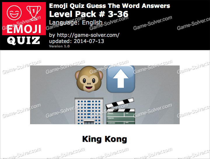Emoji Quiz Guess the Word Level Pack 3-36