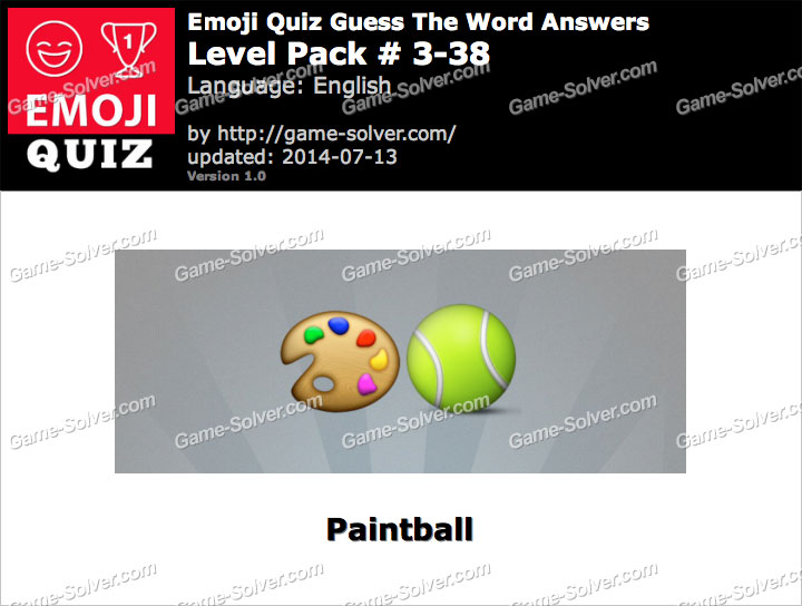 Emoji Quiz Guess the Word Level Pack 3-38