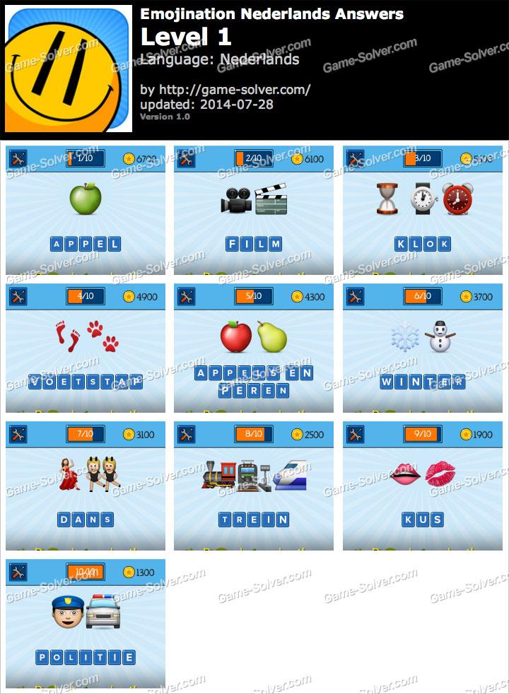 EmojiNation Nederlands Niveau 1
