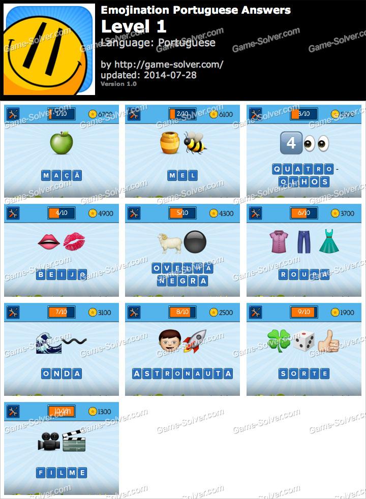 EmojiNation Portuguese Nível 1