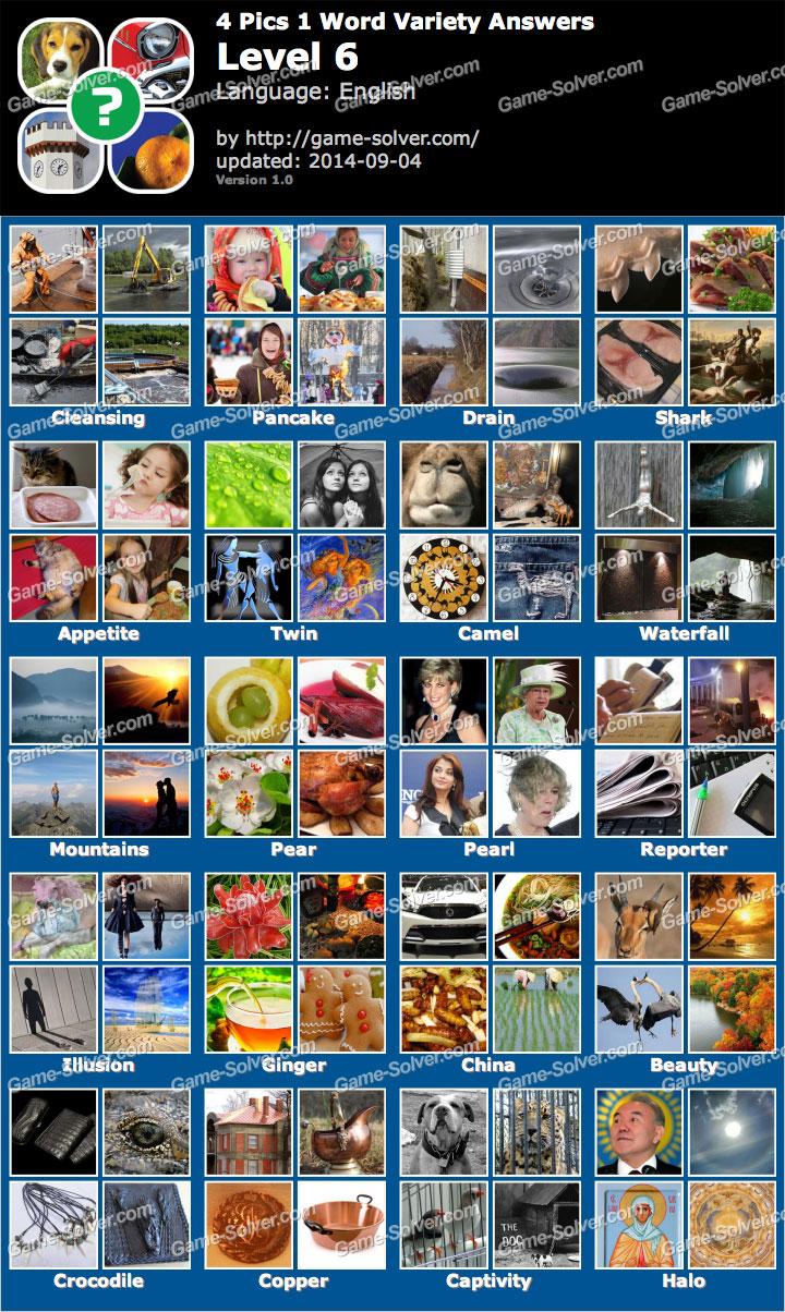4 Pics 1 Word Variety Level 6 - Game Solver