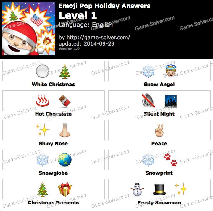 Emoji Pop Holiday Edition Level 1