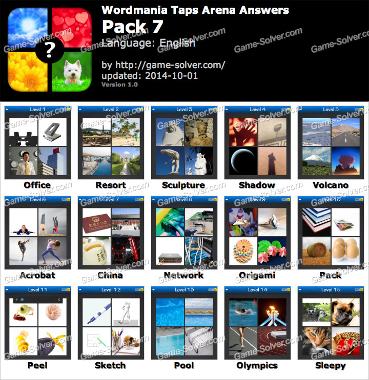 Wordmania Taps Arena Pack 2