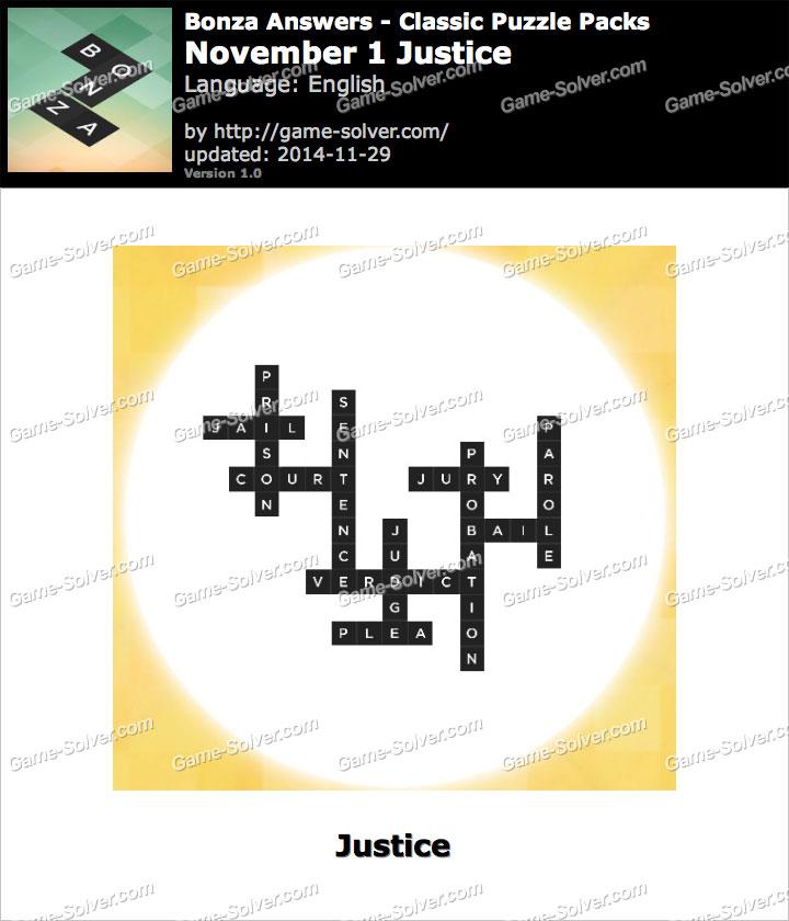 Bonza November 1 Justice