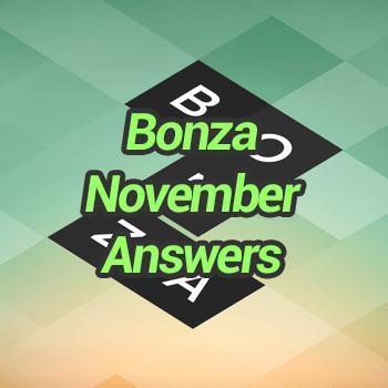 Bonza November Answers