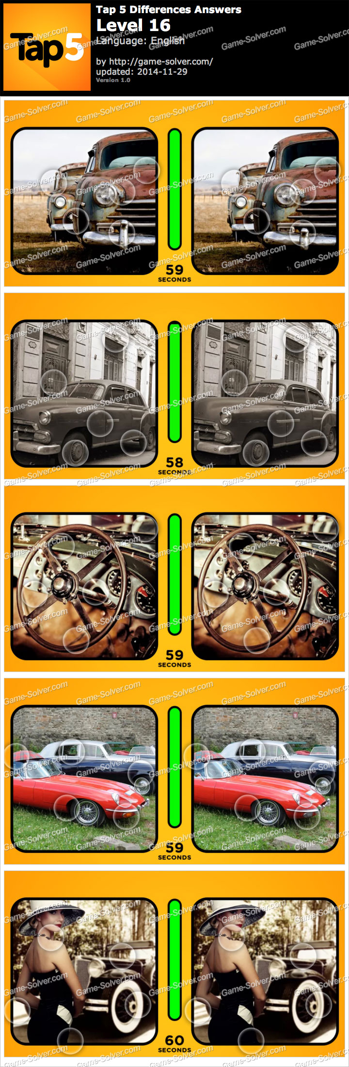 Tap 5 Differences Level 16