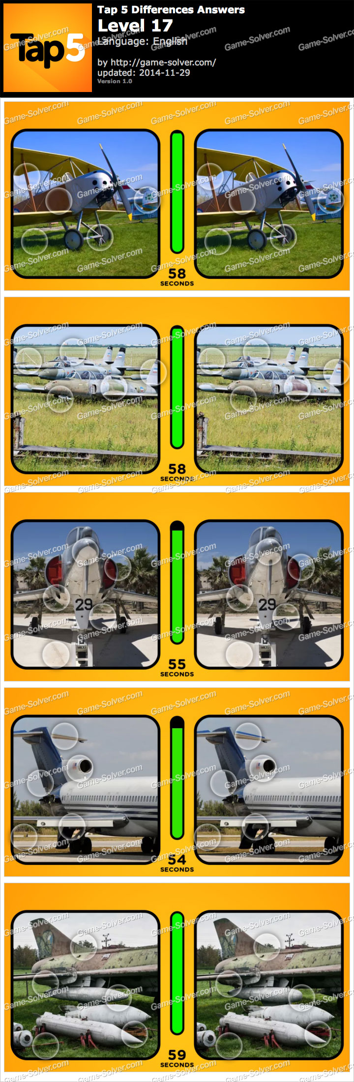 Tap 5 Differences Level 17