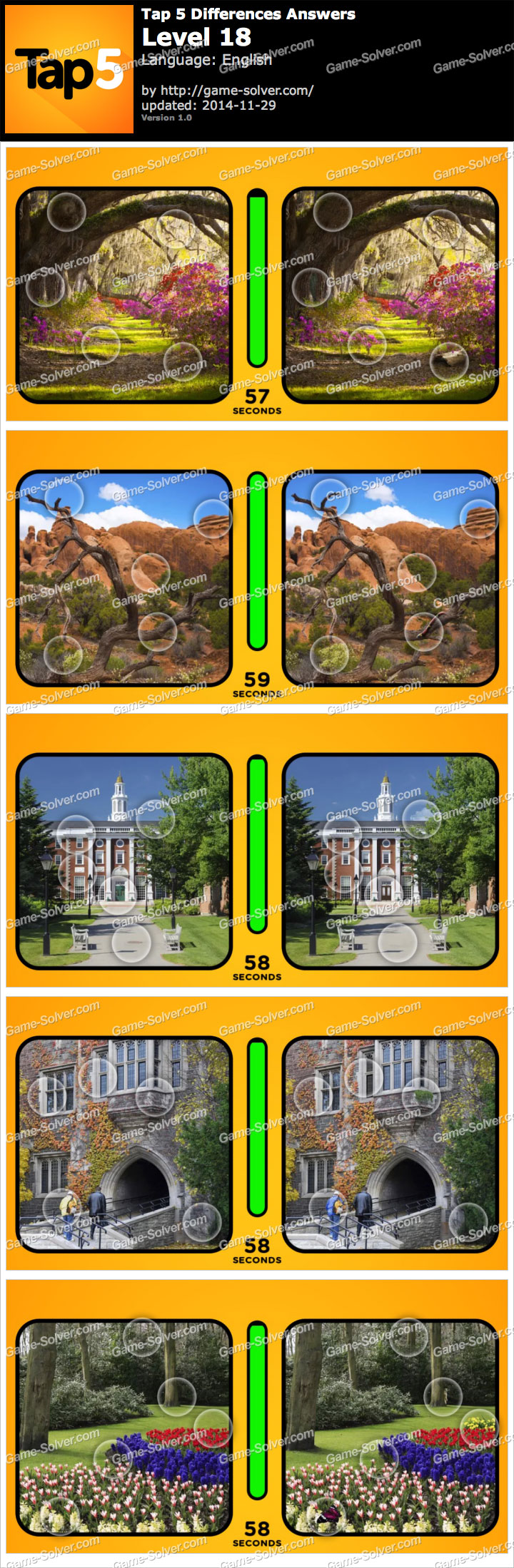 Tap 5 Differences Level 18