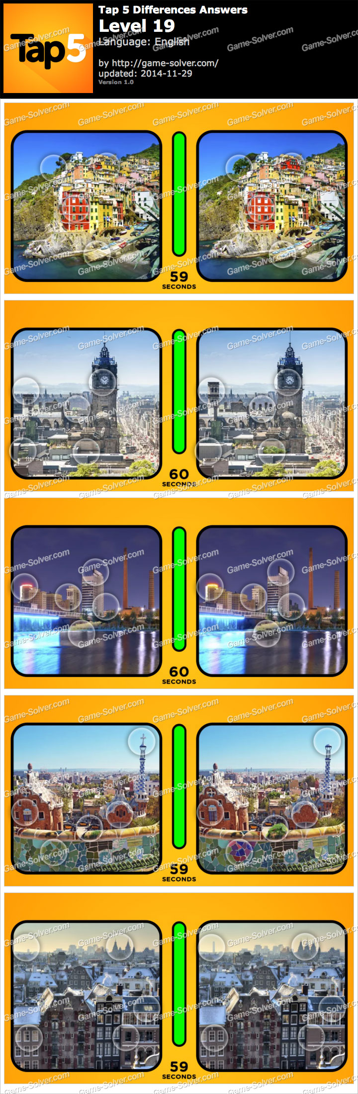 Tap 5 Differences Level 19