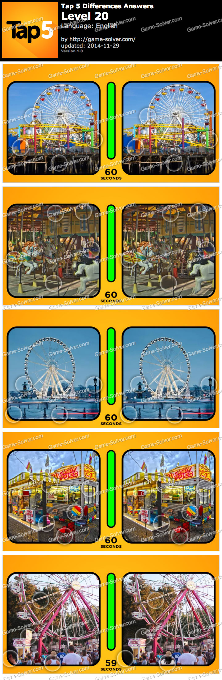 Tap 5 Differences Level 20
