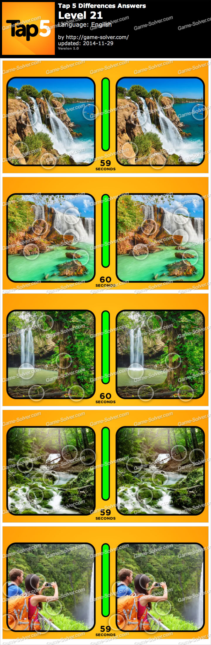 Tap 5 Differences Level 21