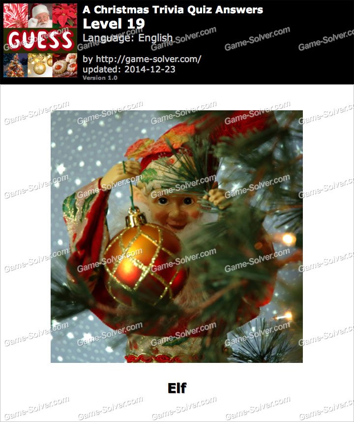 A Christmas Trivia Quiz Level 19